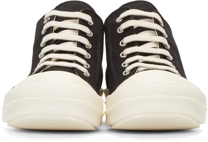 RickOwensDrkshdwBlackCanvasSneakers