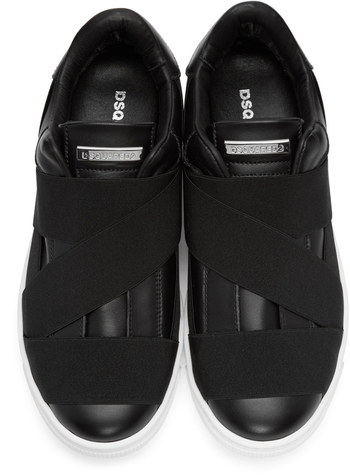 Dsquared2BlackStrapSantaMonicaSneakers
