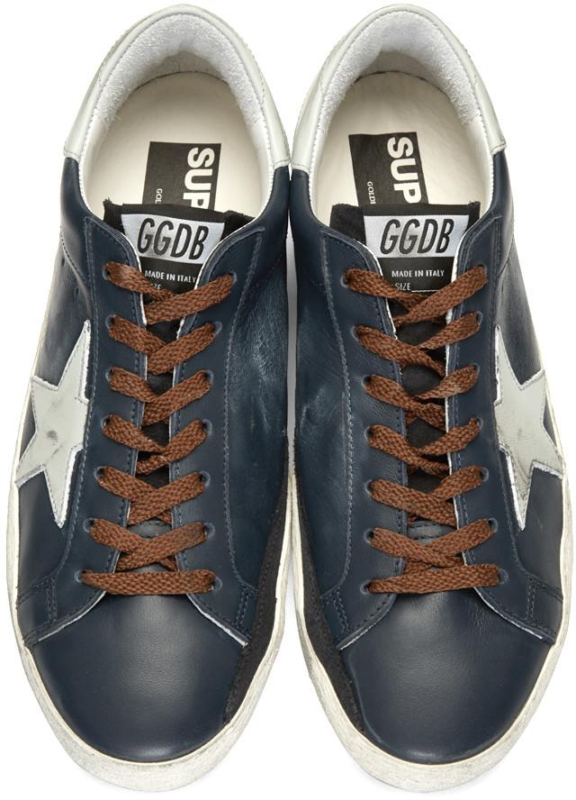 GoldenGooseBlueSuperstarSneakers