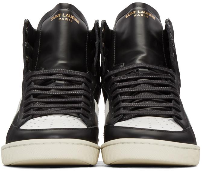 SaintLaurentBlackSL10CourtClassicSneakers
