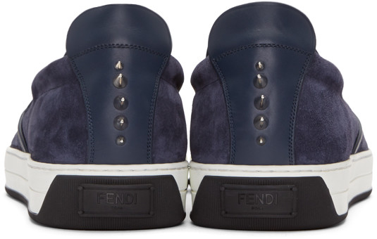 FendiNavyStuddedMonsterSneakers
