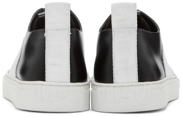 McQAlexanderMcqueenBlackWhiteChrisSneakers
