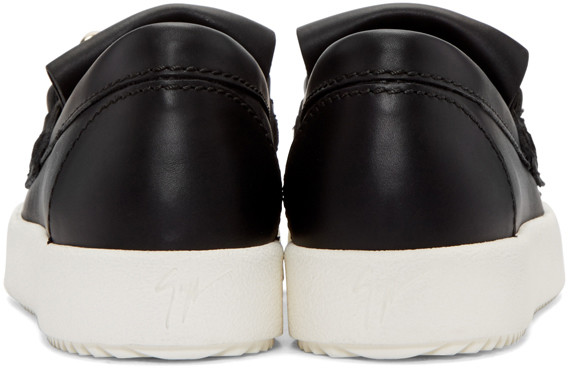 GiuseppeZanottiBlackMayLondonFringedSneakers