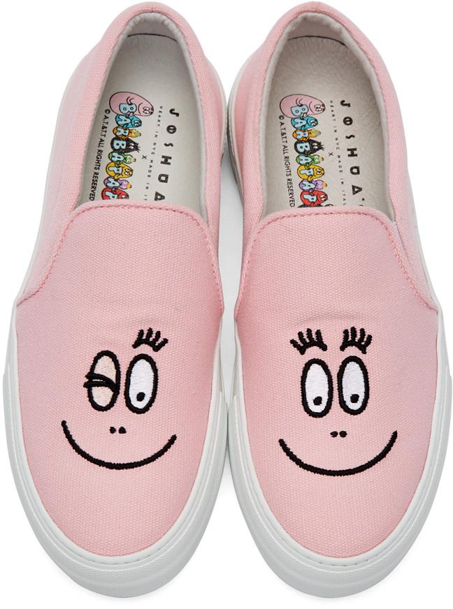 JoshuaSandersPinkBarbapapaSlipOnSneakers
