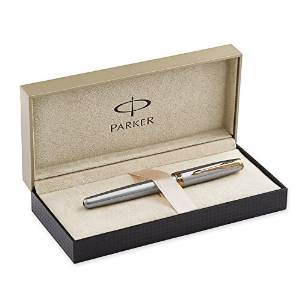 派克Parker Sonnet不锈钢金边钢笔( 1743624 )