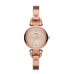 化石Fossil女式ES3268 Georgia玫瑰金色不锈钢手表