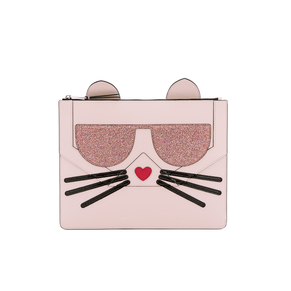 Karl Lagerfeld女式K / Kocktail Choupette Big手拿小包- Sea Shell