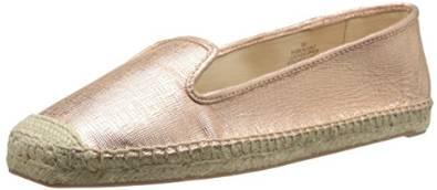 玖熙Nine West女式Beachinit金属质感芭蕾平底鞋