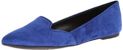 玖熙Nine West女式Shindig麂皮芭蕾平底鞋