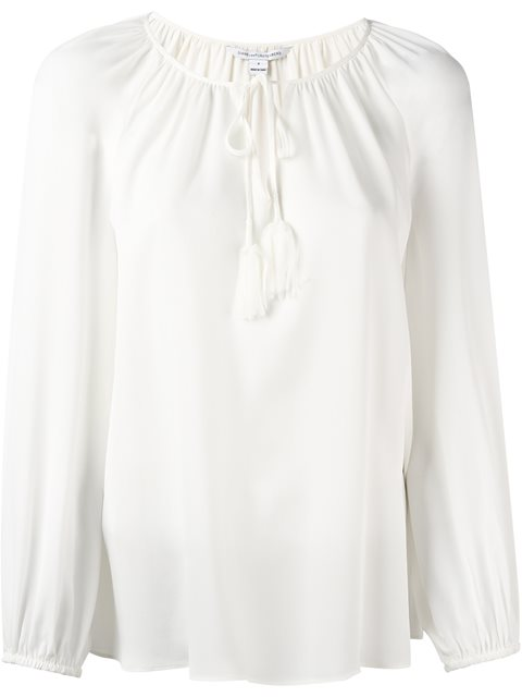 黛安·冯芙丝汀宝Diane Von Furstenberg束绳v领罩衫(女款)