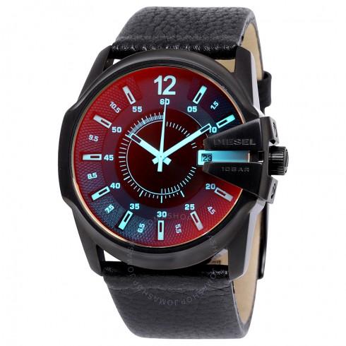 迪赛Diesel Timeframe Iridescent表盘皮质男式手表