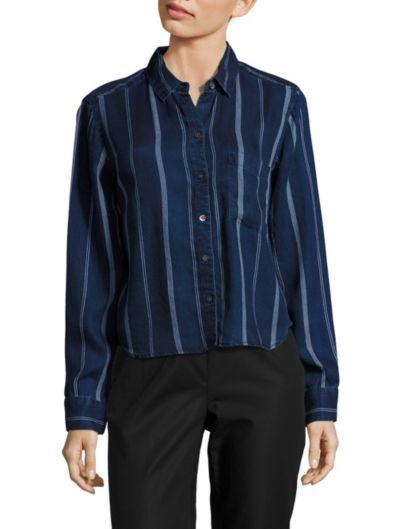 Rails Dana长袖条纹衬衣