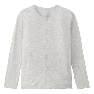无印良品MUJI 有机棉纽扣T恤(110女童)