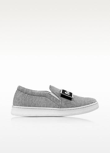 Joshua Sanders Cara灰色面料套穿式运动鞋(女款)