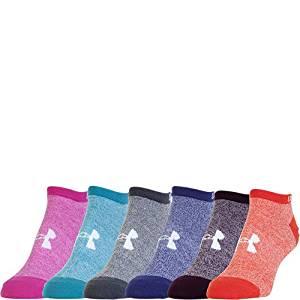 安德玛Under Armour女孩款基本款短筒袜子( 6件装)