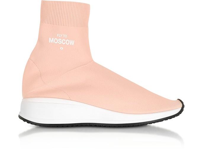 Joshua Sanders Fly To Moscow粉红色尼龙袜子中性运动鞋