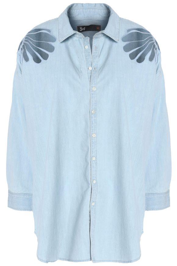 3x1刺绣cotton-chambray衬衣