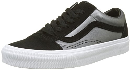 范斯Vans女式Old Skool皮质运动鞋