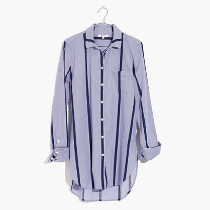 美德威尔Madewell条纹系扣束腰上衣衬衣