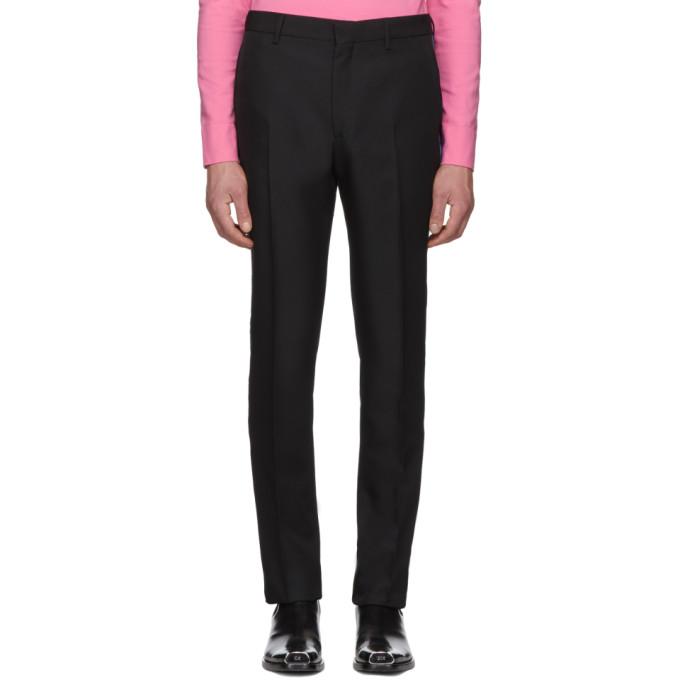 卡尔文克莱恩Calvin Klein 205W39NYC黑色Uniform Side条纹裤子