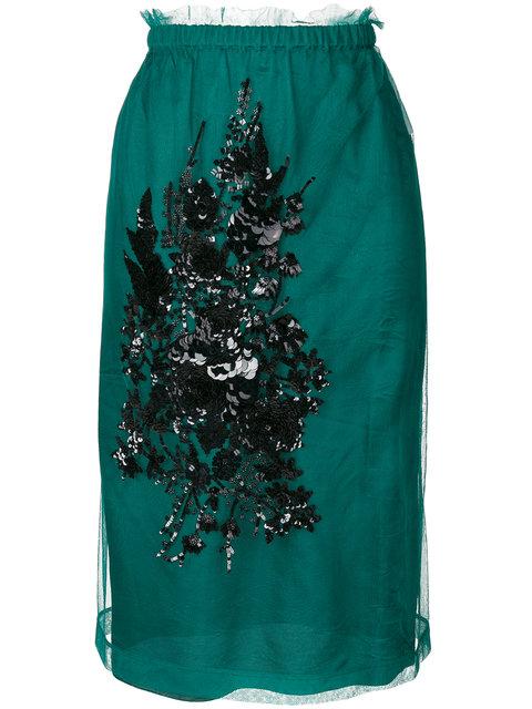 Nº21镶嵌中长半身裙(女款)