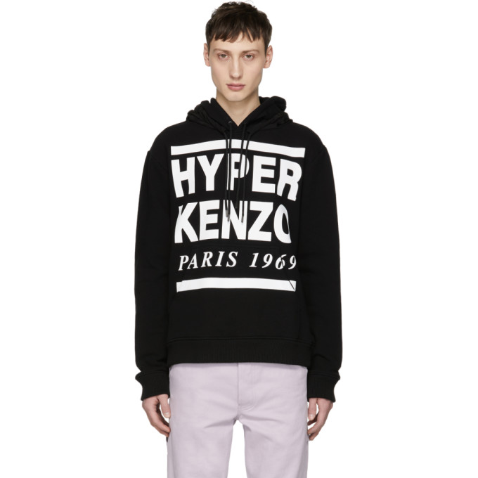 高田贤三Kenzo黑色'Hyper Kenzo'连帽衫
