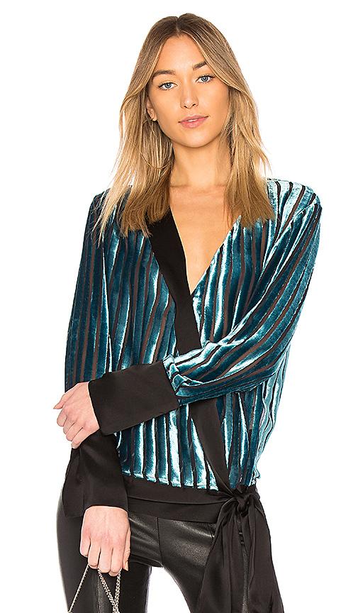 黛安·冯芙丝汀宝Diane von Furstenberg CROSS OVER天鹅绒女衬衫(女款)