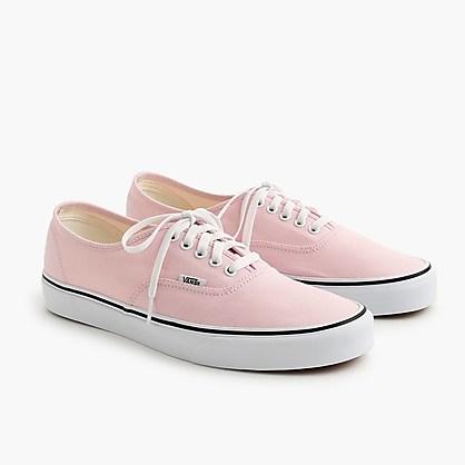 范斯J.crew x Vans联名款 帆布authentic运动鞋粉色