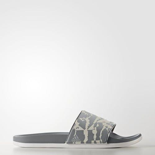 阿迪达斯adidas adilette Cloudfoam Plus图案凉拖鞋(男款)