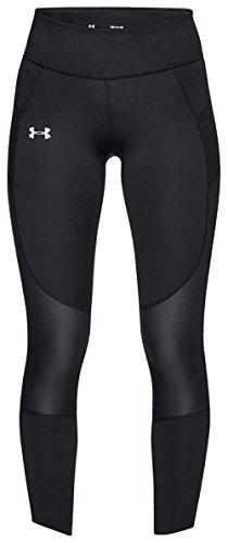安德玛Under Armour女式Speedpocket Run Crop,黑色/ Reflective,大号