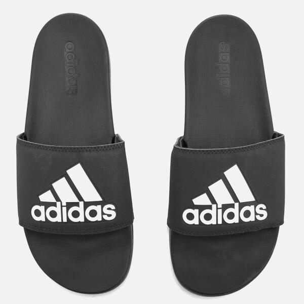 阿迪达斯adidas男式Adilette Logo基础款凉拖鞋- Core黑色