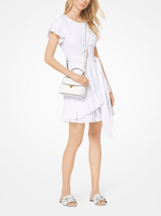 迈克·科尔斯MICHAEL Michael Kors Crinkled薄纱裹身裙