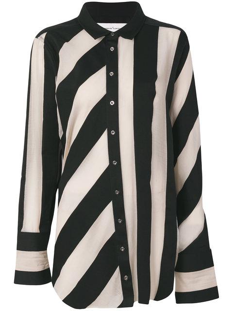 麦奎斯奥美达Marques'almeida条纹raw-edged衬衣(女款)
