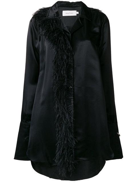 麦奎斯奥美达Marques'almeida羽毛珠饰衬衣(女款)