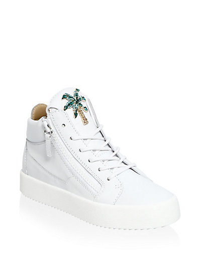 朱塞佩·萨诺第Giuseppe Zanotti May London棕榈树Tree皮质运动鞋
