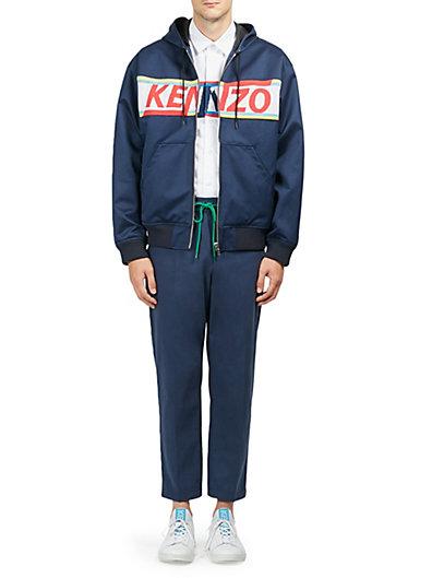 高田贤三Kenzo Logo棉制连帽衫