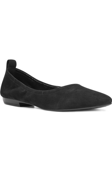 玖熙Nine West Greige Skimmer Flat (女式)