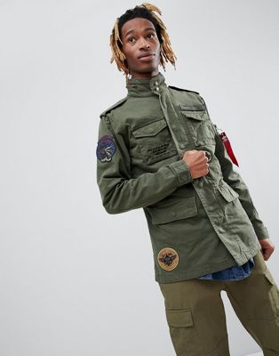 阿尔法Alpha Industries Huntington Patch M65外套徽章Green (男款)