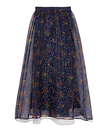 莉莉布朗[リリーブラウン] シアーフラワーボリュームスカート レディース LWFS182045