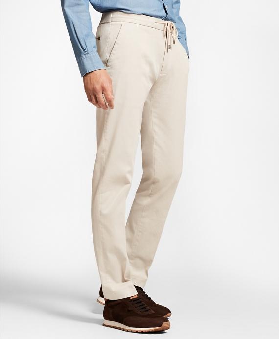布克兄弟Brooks Brothers色织面料抽绳裤子(男款)