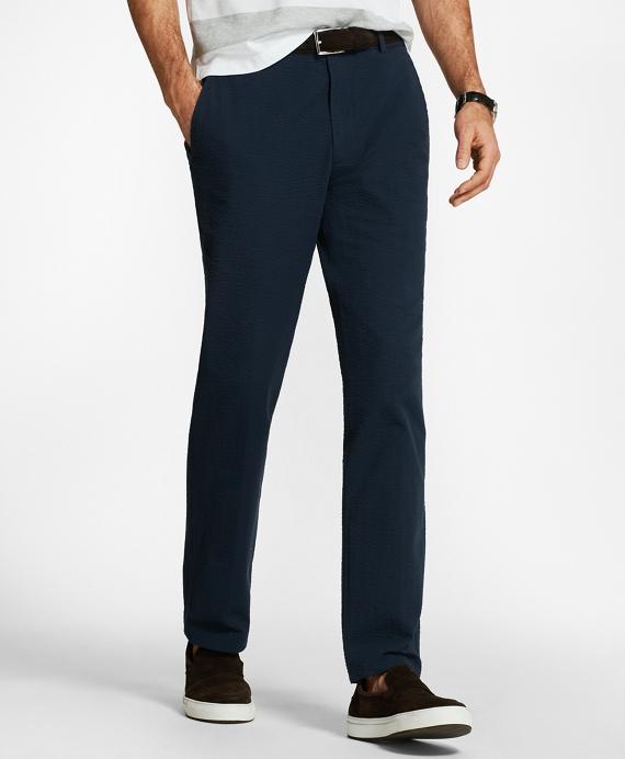 布克兄弟Brooks Brothers Clark Fit泡泡纱裤子(男款)