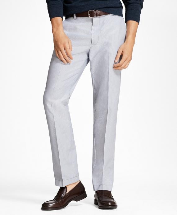 布克兄弟Brooks Brothers Clark Fit条纹弹力Advantage休闲裤®(男款)