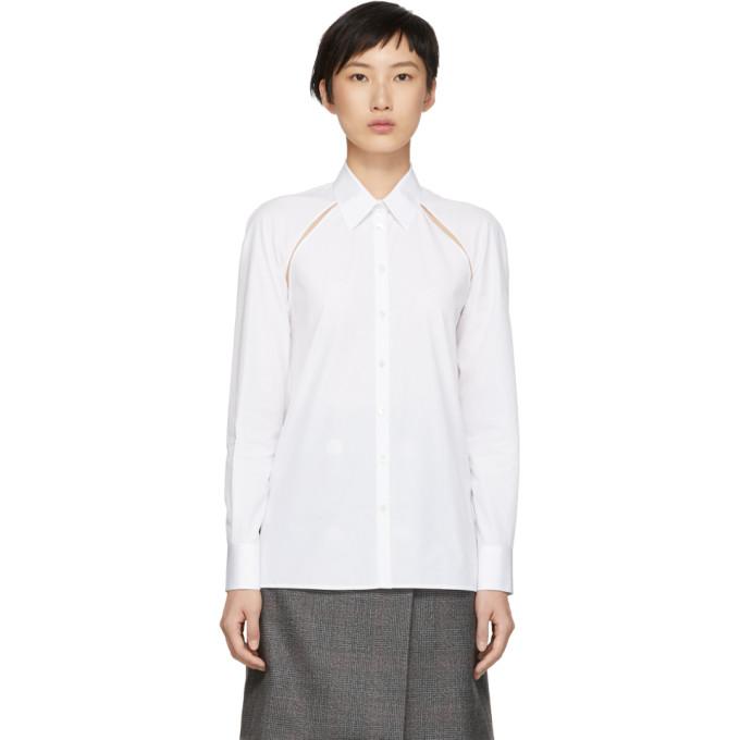 马吉拉时装屋Maison Margiela白色镂空衬衣
