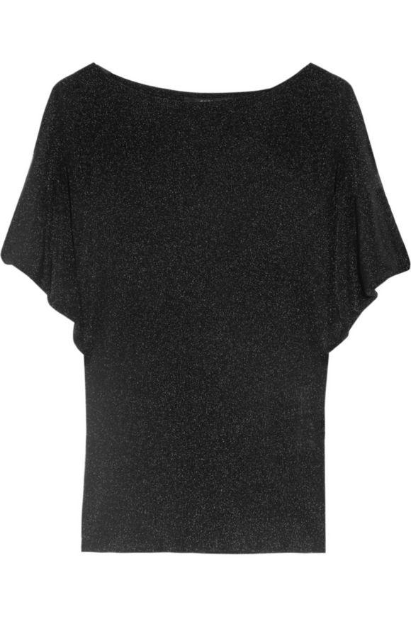 古驰GUCCI Metallic-finish罗纹针织top