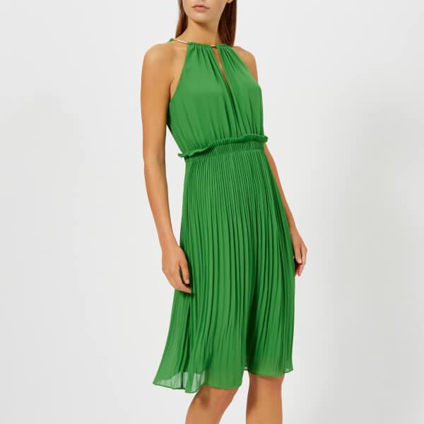 迈克·科尔斯MICHAEL MICHAEL KORS女式链条迷笛裙- Green