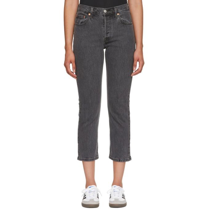李维斯Levi's灰色501七分牛仔裤