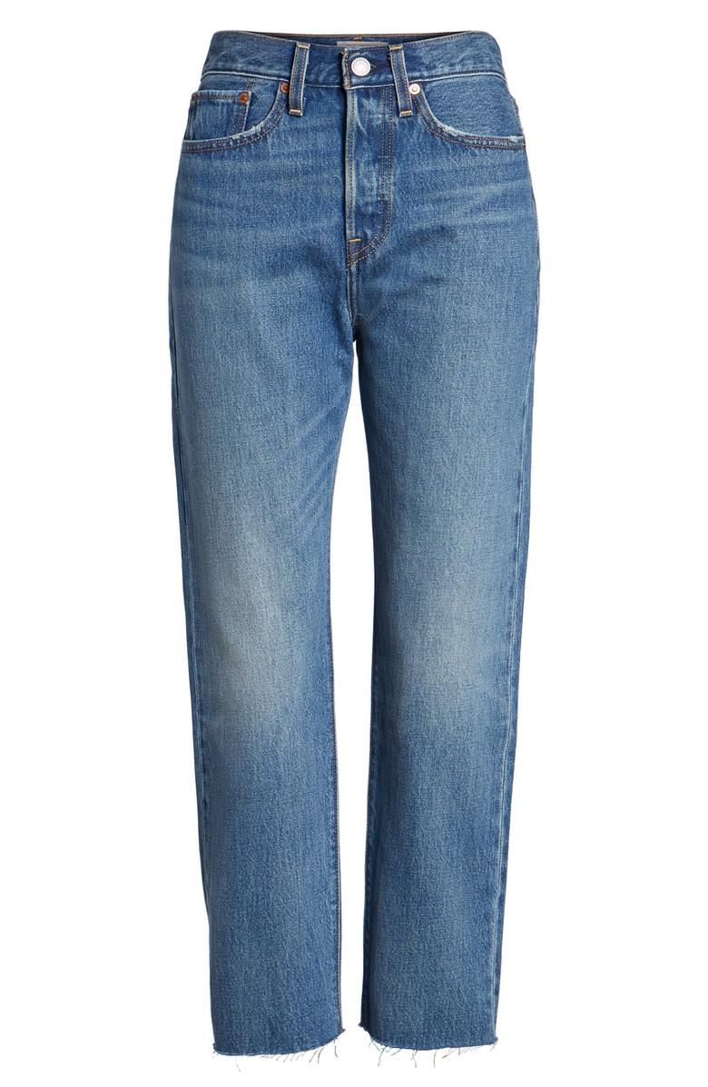 李维斯LEVI'S Wedgie高腰直筒牛仔裤(女款)