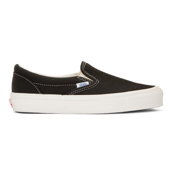 范斯Vans黑色OG经典一脚蹬运动鞋