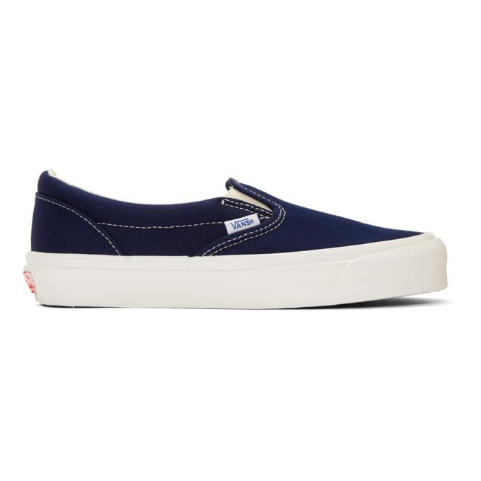 范斯Vans蓝色OG经典一脚蹬运动鞋
