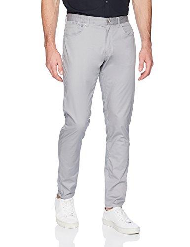 卡尔文克莱恩Calvin Klein男式五口袋弹力裤子Pure Gray, 33W X 32L